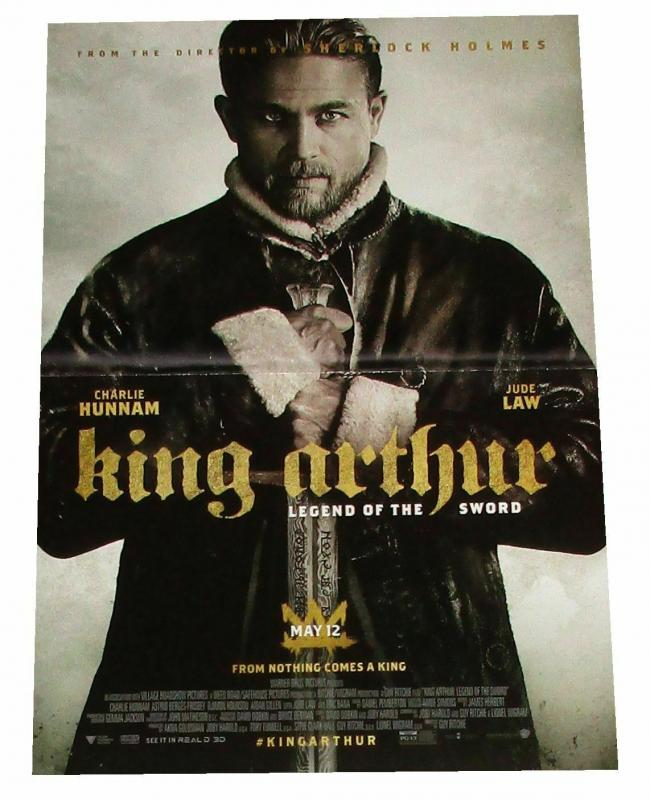 King Arthur Movie Charlie Hunnam Folded Promo Poster 11.5 x 17 (2017) - New!