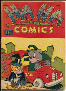 Ha Ha #8 1944 ACG-taxi cover-WWII funny animals-G