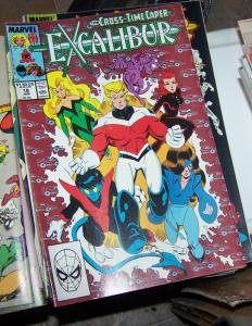 EXCALIBUR # 18   1989 MARVEL CROSS TIME CAPER PT 7+ X MEN PHOENIX NIGHTCRAWLER