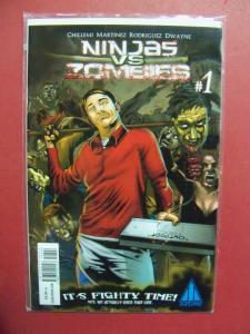 NINJAS VS ZOMBIES #1  (9.0 to 9.4 or better)  AZURE