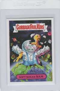 Garbage Pail Kids Soft Boiled Sam 1b GPK 2017 Adam Geddon trading card sticker