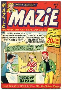 Mazie #10 1953- Harvey Teen Humor- Kissing Booth cover VG