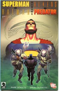SUPERMAN / BATMAN vs ALIENS / PREDATOR #1, NM+, 1st printing, 2007, Shultz