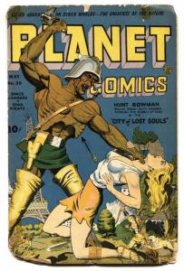 Planet #30 1944-Fiction House-Lost World-Mars God of War-Star Pirate-fr/g
