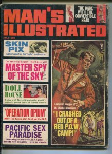 MAN'S ILLUSTRATED 05/1965-EXPLOITATION-CHEESECAKE PIX-POW CAMP ESCAPE -good/vg