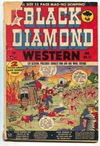Black Diamond Western #17 1949- Wolverton- incomplete