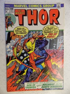 THE MIGHTY THOR # 208 MARVEL GODS JOURNEY ACTION ADVENTURE