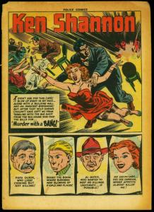 Police Comics #110 1951- Reed Crandall- Golden Age Reading Copy