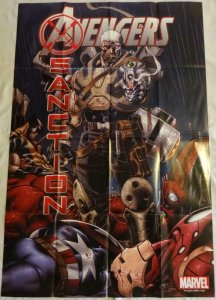 AVENGERS SANCTION Promo Poster, 24 x 36, 2011, MARVEL, Unused 212