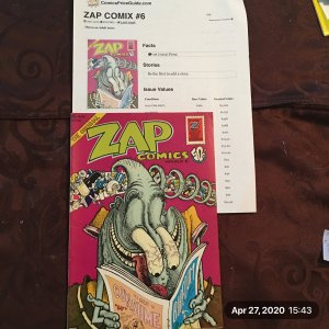 THE ORIGINAL Zap Comics Number 6