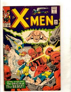 (Uncanny) X-Men # 15 VF Marvel Comic Book Angel Beast Cyclops Jean Grey JF15