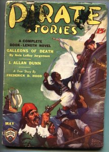 Pirate Stories #4 1935 May Rare Adventure Pulp Mag