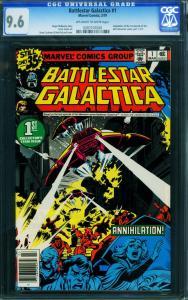BATTLESTAR GALLACTICA #1 1979 CGC 9.6 -HIGH GRADE MARVEL 0207107020