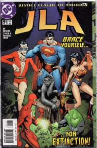 C Comics JLA #91 Superman, Batman, Wonder Woman, Flash, Plastic Man - Extinction