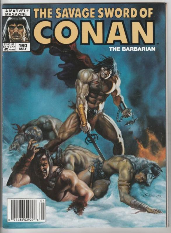 Savage Sword of Conan #160 (May-89) NM+ Super-High-Grade Conan