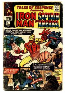 TALES OF SUSPENSE #67 comic book 1965-IRON MAN/CAPTAIN AMERICA-MARVEL-VG-