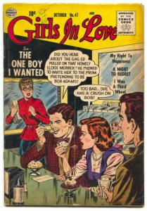 Girls In Love #47 1955- ice cream cover- third wheel VG