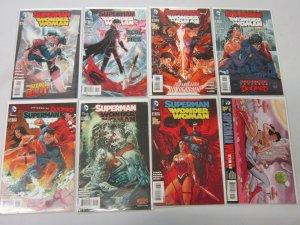 Superman Wonder Woman Series lot #4-14 8 different books 8.0 VF (2014-2015)