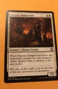 VETERAN DUNGEONEER :  Magic the Gathering card / Adventures in Forgotten Realms