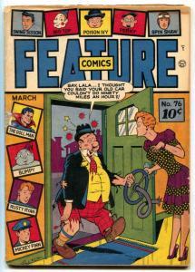 Feature Comics #76 1944- DOLL MAN- Gill Fox cover G/VG