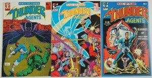 Hall of Fame T.H.U.N.D.E.R. Agents #1-3 VF complete series wally wood thunder 2