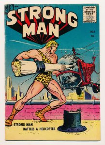 Strong Man (1955 Magazine Enterprises) #1-4 VG- to FN- Complete series, HTF