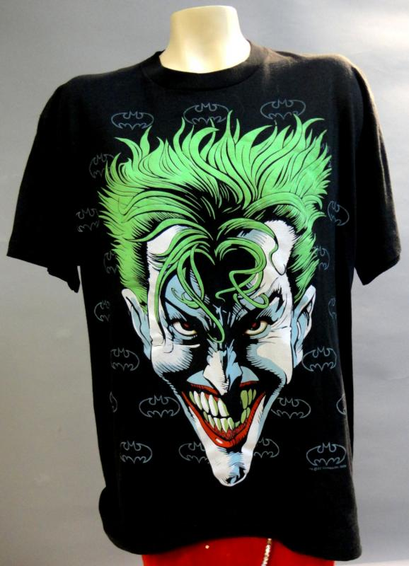 JOKER, Gotham City, DEADSTOCK Vintage Tshirt,1989,XL,DC Comics, BATMAN Villain