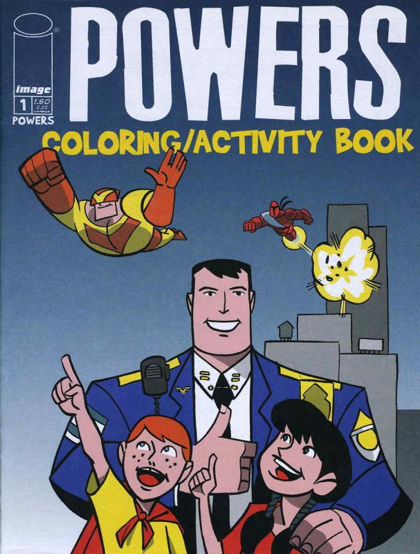 Powers Coloring/Activity Book #1 VF/NM; Image | combined shipping available - de