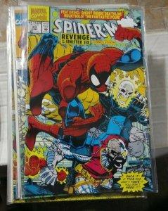 SPIDER-MAN # 23 MARVEL 1992 sinister six pt 6 ghost rider hulk f f