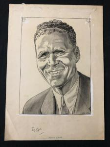 Schweitzer Original Sporting News Art September 13 1961 Frank Lane