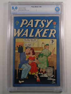 Patsy Walker #24 CBCS 8.0 White Pages 2nd Highest Grade Ever Golden Age Marvel