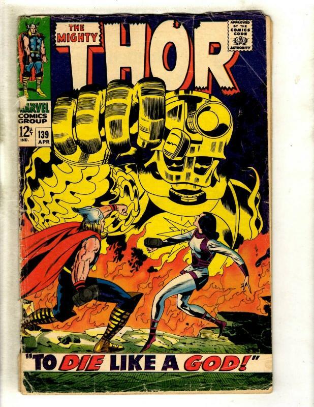 Thor # 139 GD Marvel Comic Book Loki Odin Sif Avengers Hulk Iron Man GK4
