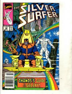 Silver Surfer # 35 VF/NM Marvel Comic Book Thanos Gauntlet Avengers Hulk EK8
