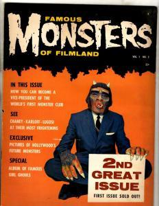 Famous Monsters Of Filmland # 2 VF- Warren Comic Book Magazine Fear Vampires NE1