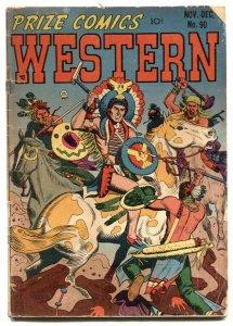 Prize Comics Western #90 1951-John Severin-Will Elder-Indian battle cover-G+