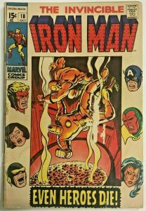 INVINCIBLE IRON MAN#18 GD 1969 MARVEL SILVER AGE COMICS