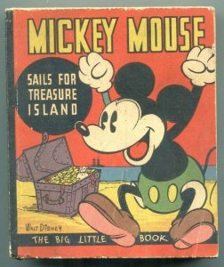 Mickey Mouse Sails For Treasure Island PREMIUM Big Little Book BLB 1935 FN