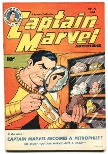 CAPTAIN MARVEL ADVENTURES #73 golden age comic book VF+