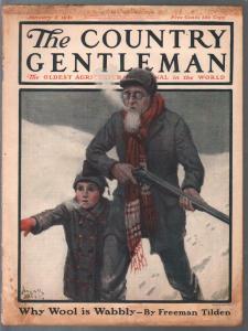 Country Gentleman 1/8/1921-Frank Sitck cover-Franklin Booth-AP Terhune-VG