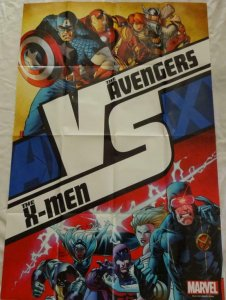 AVENGERS vs X-MEN Promo Poster, 24 x 36, 2012, MARVEL, Unused 252