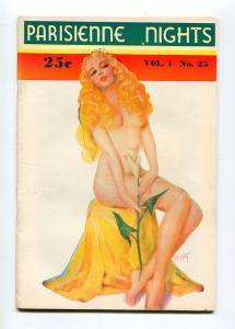 PARISIENNE NIGHTS #25 1940-ZOE MOZERT-SPICY GOOD GIRL ART-VF