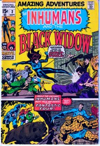 Amazing Adventures(vol.1)# 2  INHUMANS and Black Widow !!