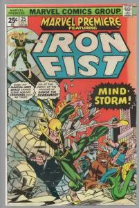 MARVEL PREMIERE 25 VG-F (1ST BYRNE IRON FIST) Oct. 1975