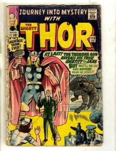 Journey Into Mystery # 113 GD/VG Marvel Comic Book Feat. Thor Loki Odin Sif GK4