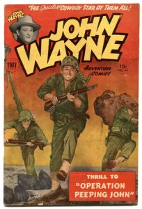 John Wayne Adventure #14 1952- SANDS OF IWO JIMA -  f/vf