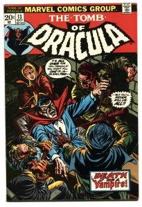 Tomb of Dracula #13 1973 Origin Blade the Vampire Hunter Marvel VF