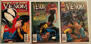 Venom tooth and claw set:#1-3 8.5 VF+ (1996)