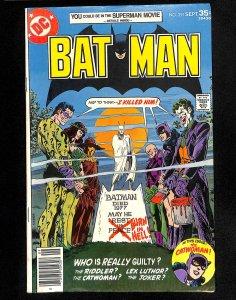 Batman #291 Joker Riddler Catwoman!