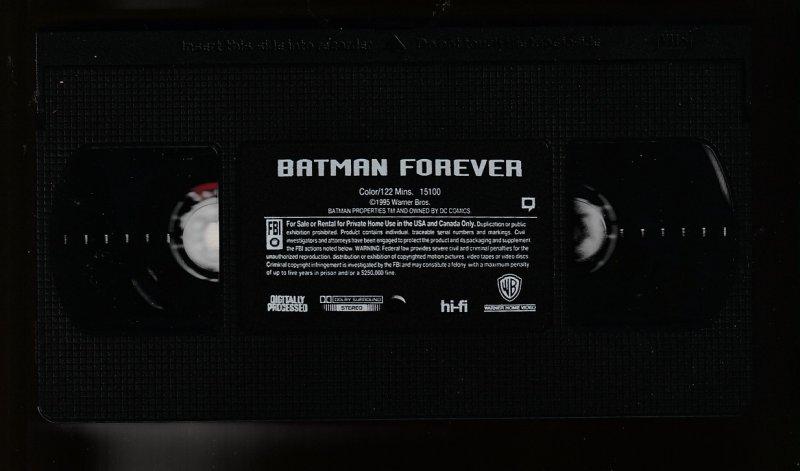 Batman Forever VHS
