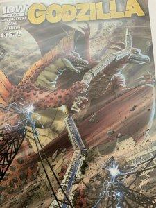 GODZILLA #4 1:10 RETAILER INCENTIVE VARIANT COVER BY JEFF ZORNOW IDW COMICS 2012
